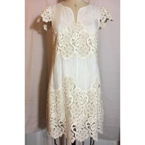 Yoana Baraschi Silk blend voile lace dress